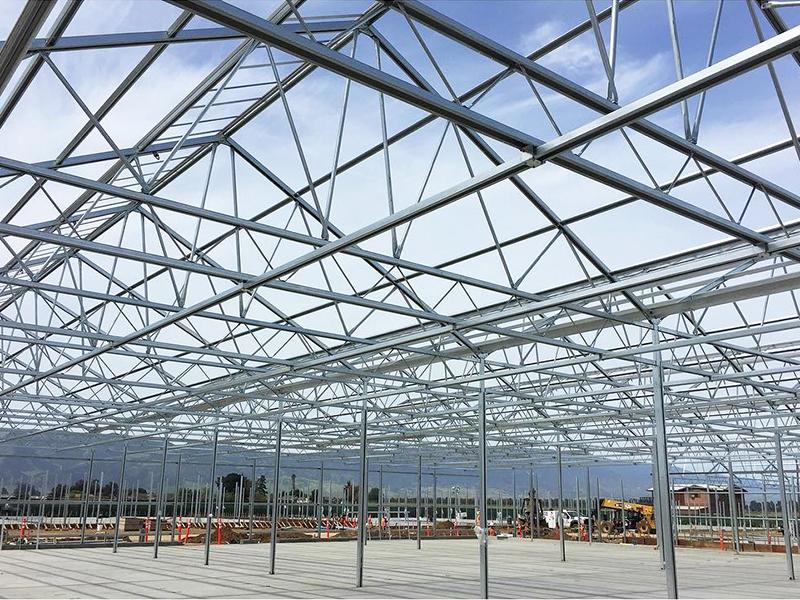 Marijuana growing greenhouse China 2021 hot sale factory price multi span greenhouse -PBMV004
